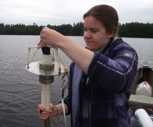 Amanda Pratt with Sediment Sampler cropped