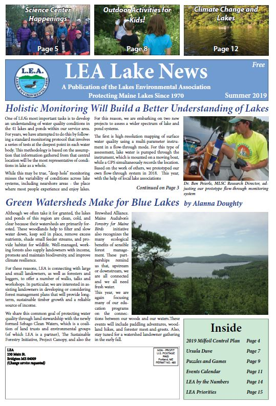 Lakes Environmental Association Latest Newsletter